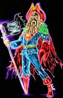 Davy Jones Superman neon by AlanSchell