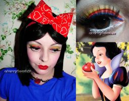 Snow White Makeup Inspired Look by Cherrybomb81 by cherrybomb-81