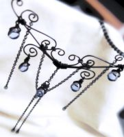 Gothic wirework necklace by sancha310sp