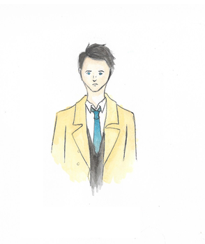 Holy Tax Accountant - Castiel Watercolor SPN by lukykeeknow