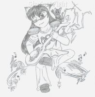 Shadow Fight Playin' Guitar by 0AngelicWings0