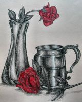 """Rose Still Life"" by RainbowWish"