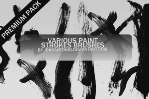 Paint Stroke Brushes by JoaoAntonio