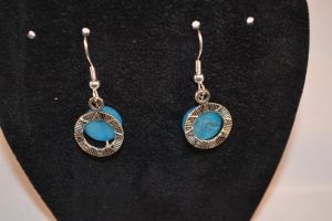 Blue 'Stargate' Earrings by lunnybunny1