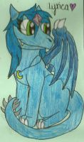 AT: Lyrica the Dragoness by dragonpop1