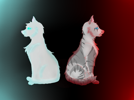 Dovewing and Ivypool by Zonalupi