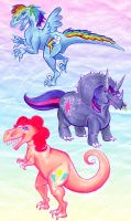Friendship is Mesozoic by Mermaid-Kalo
