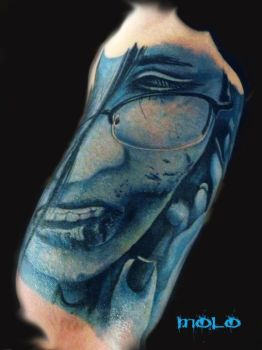 blue face by Molo84
