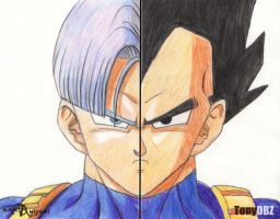 Father and son - collab by TonyDBZ