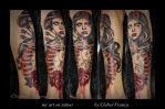 my art on tattoo by Cleber Franca by oldSkullLovebyMW