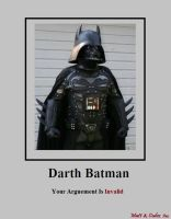Darth Batman Demotivational by Boonski