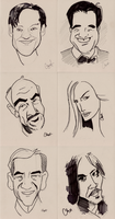 Caricature Set by QuestingRaven