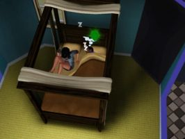 Sims 3 - Kitty Katswell get up to cook waffles by Magic-Kristina-KW