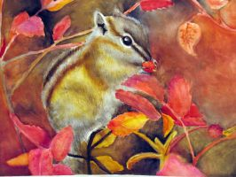 Chipmunk what are you eating? by ohin