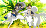 Worlds Collide: Kiba X Princess Mononoke by joeFJ