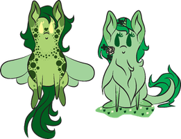 Saint Patrick's Special Inky Adopts (Closed) by WaterLillyHearts