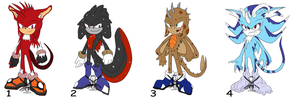 Sonic Adopts Auction - OPEN PAYPAL POINTS by Swords-and-Tequila