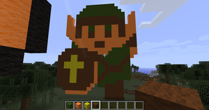 Link in Minecraft by branduboga