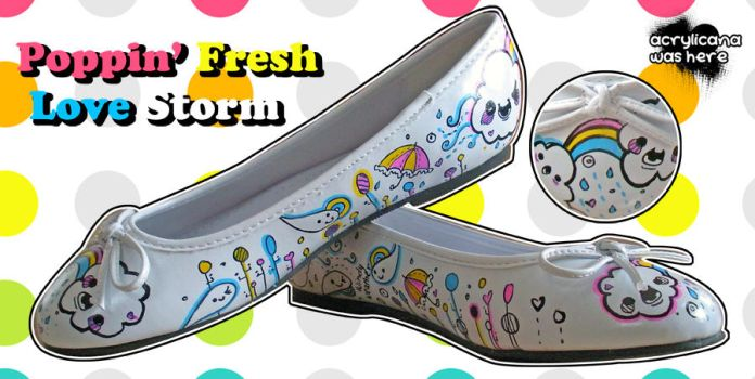 Poppin Fresh Love Storm Flats by marywinkler