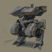 prototype of landshark M4A1 zone tactical mecha by marksanwel