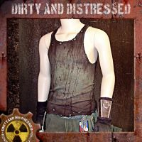 Grungy Green Wasteland Tank 1 by DirtyandDistressed