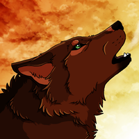 Red wolf by Cylithren