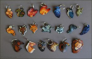Leather Keychain Explosion by windfalcon