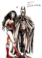 batman and wonder woman by dziwnym