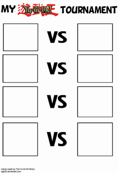 Yu-Gi-Oh Tournament blank template by OGB20