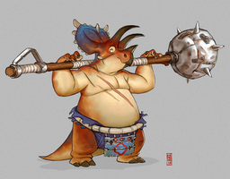 Bravoceratops Warrior by CamaraSketch