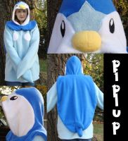 Piplup Pokemon hoodie cosplay by Bahzi