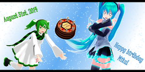 Happy Birthday, Miku! :8/31/14: by Aurathyst