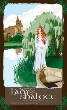 Lady of Shalott recital poster by timetrapped