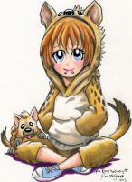 Kono the Cuddly Hyena Gijinka by Legrandzilla