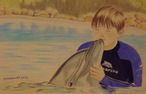 Joe and the dolphin by shirls-art