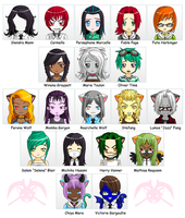 MH: Anime OC Faces 02 by KPenDragon