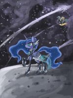 Space Princess Luna by raptor007