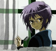 Yuki Nagato ver. Disappearance (Colored) by Izham-ZK9