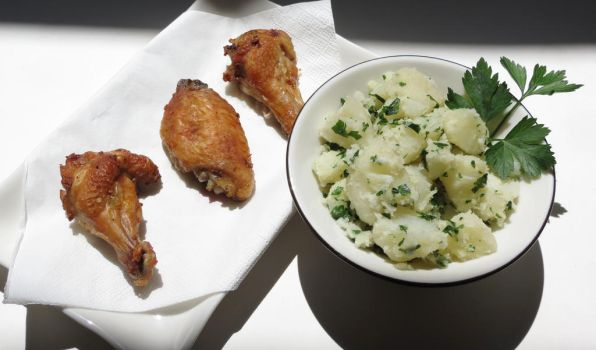 Onion Soup Mix Chicken Wings with Parsley Potatoes by Kitteh-Pawz