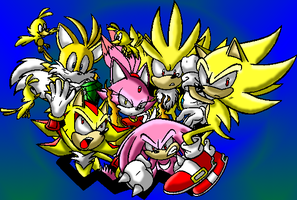 Super Sonic Warriors by inuyashacrazy1