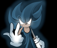 Super Dark Sonic by xxxwingxxx