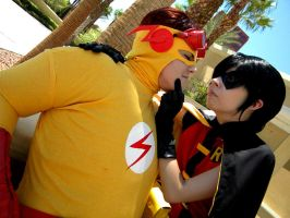 Young Justice: Flirt by kay-sama
