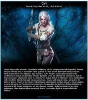 Witcher 3 Ciri Journal Skin by MrOrbital