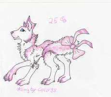 pink Wolf/Dog adopt (open) by CelCel98