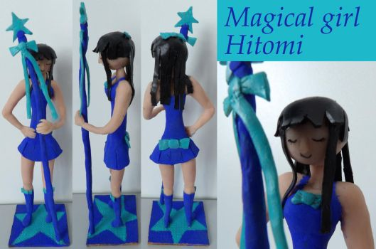 Magical Girl Hitomi Sculpture by TeleviCat