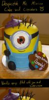 Minion cake by Stephanie-Chivas