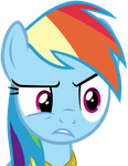 Rainbow Dash Creeped Out by ArcticFox1095