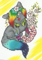 Rainbow kitty by xXGrinsekatze