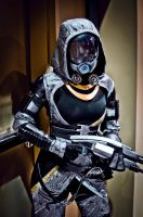 Tali with her Shotgun by Danosuke