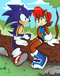 Sonic meeting Sally by Kell0x